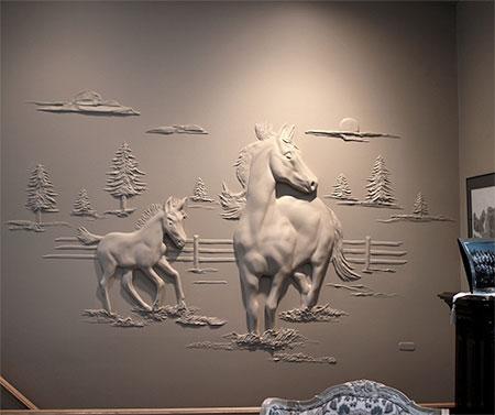 Drywall Artist Bernie Mitchell