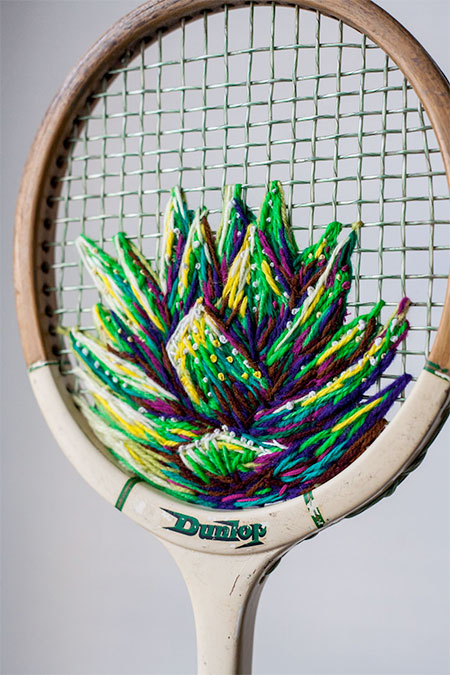Embroidered Tennis Racquets