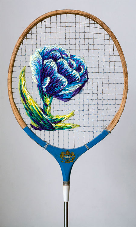 Embroidered Badminton Racquets