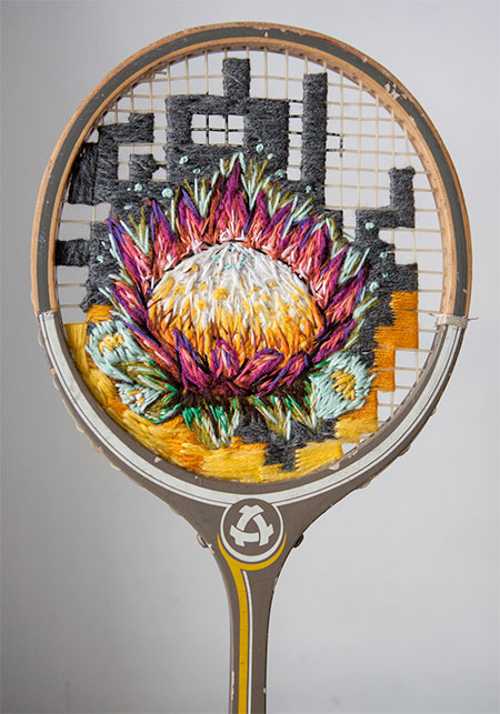 Embroidered Racquets
