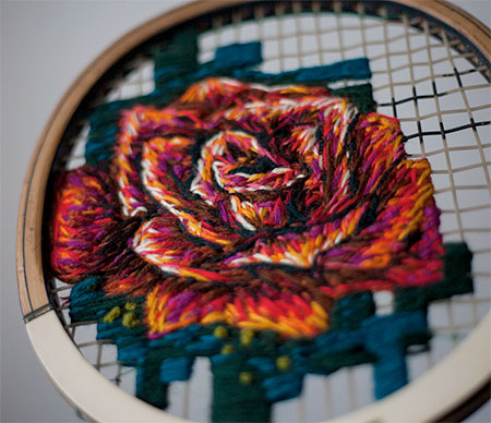 Embroidered Racquet