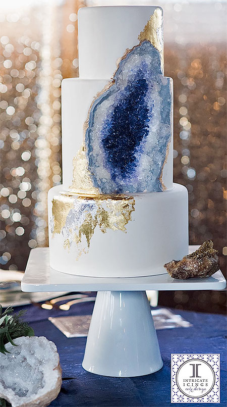Camping Beds For Tents >> Geode Wedding Cake