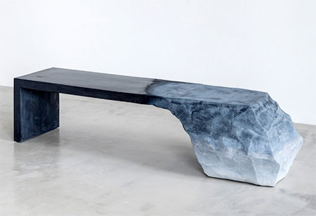 Glacier Inspired Bench