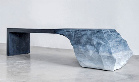 Iceberg Inspired Bench