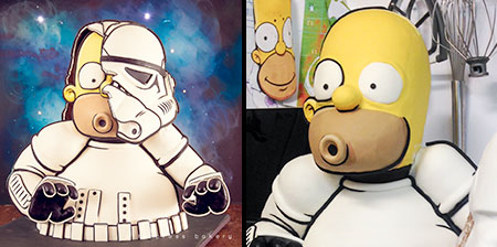 Homer Stormtrooper Cake