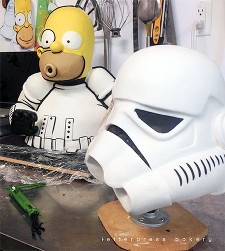 Homer Simpson Star Wars Cake