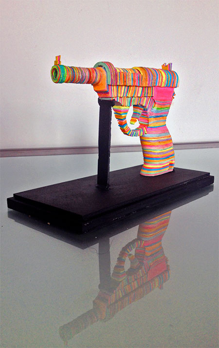 Post-it Note Sculpture