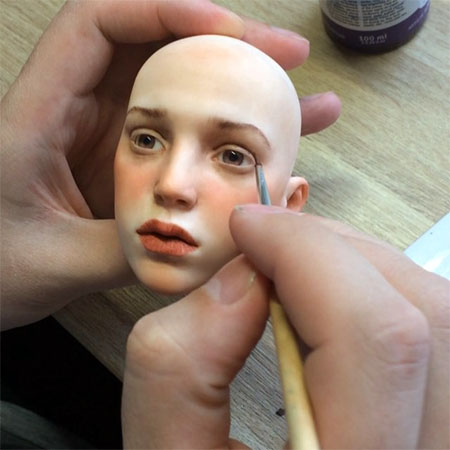 Realistic Doll Head