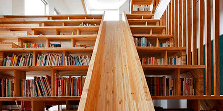 Staircase Library Slide