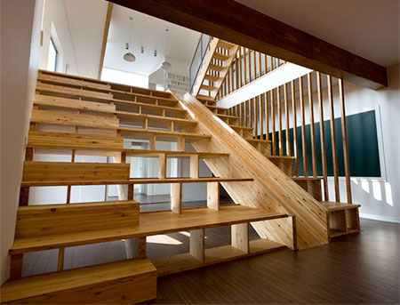 Staircase Bookshelf Slide