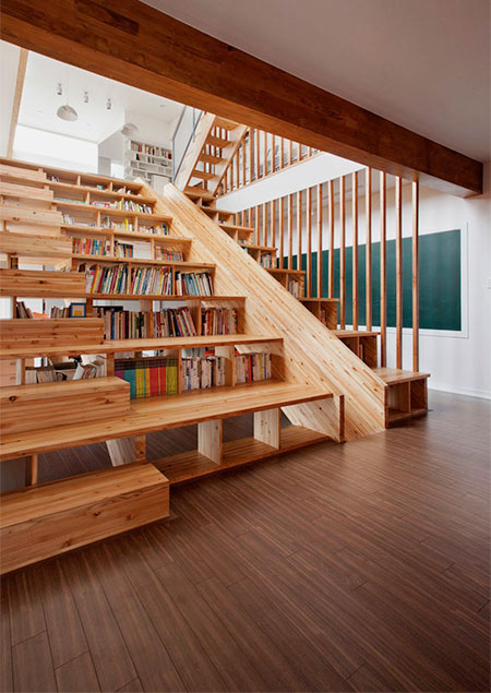 Staircase Bookshelves Slide