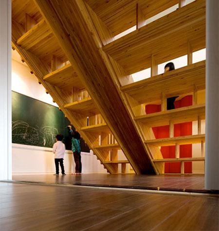 Moon Hoon Staircase Library Slide
