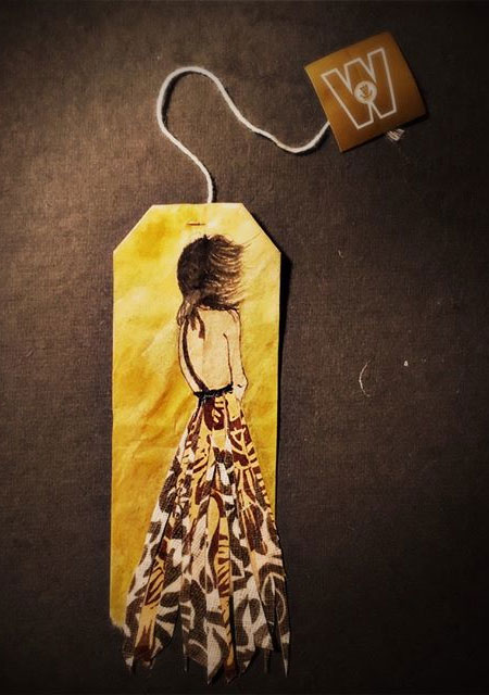Used Tea Bag Art