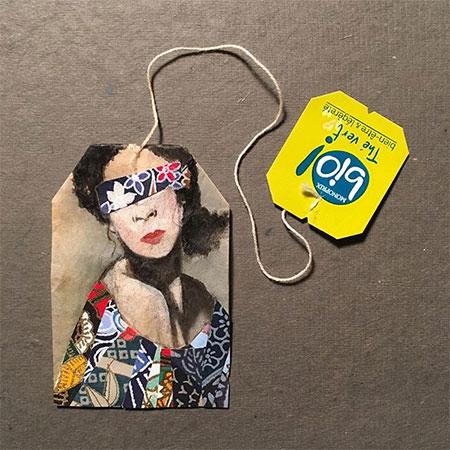 Used Tea Bags Art