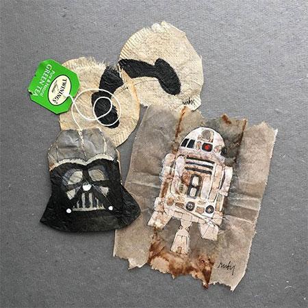 Dried Tea Bag Art