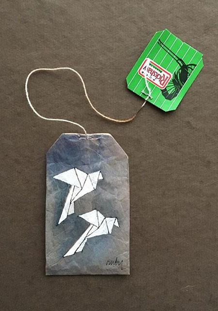 Dried Tea Bags Art