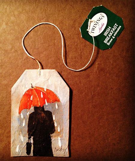 Recycled Tea Bags Art