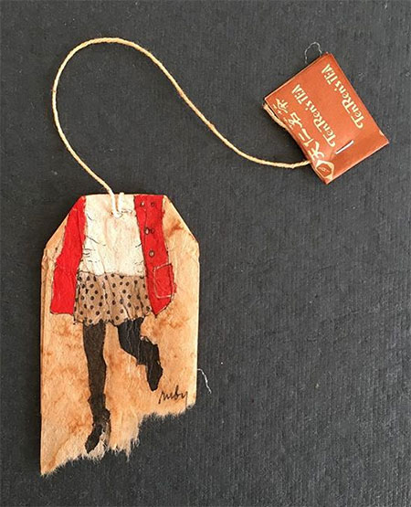 Ruby Silvious Tea Bags Art