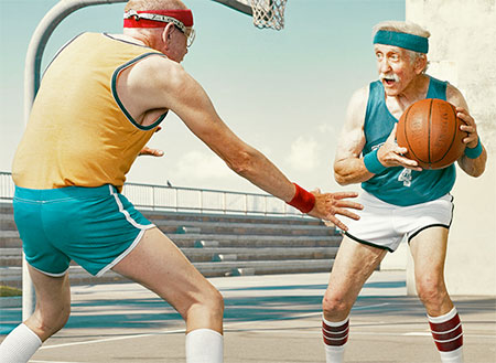 Old People Basketball