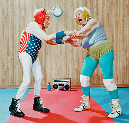 Old People Boxing