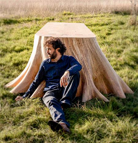Thomas de Lussac Tree Stump Table