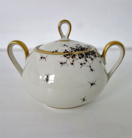 Porcelain Covered with Painted Ants