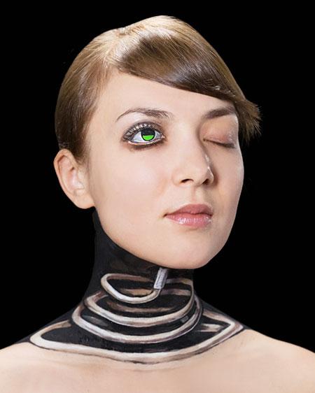 Optical Illusion Body Painting
