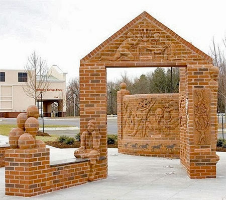 Brad Spencer Brick Sculpture