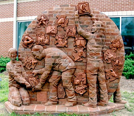 Sculptor Brad Spencer
