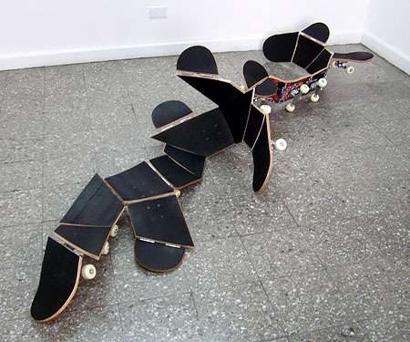 Dario Escobar Skateboard Sculpture