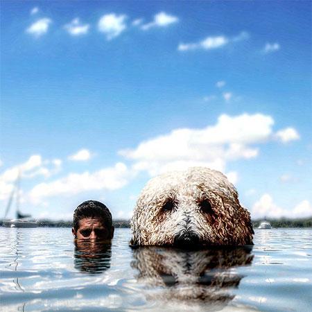Chris Cline Dog