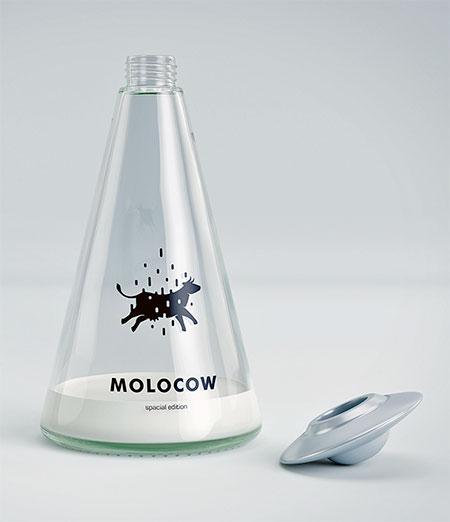 Alien Spaceship Milk Packaging
