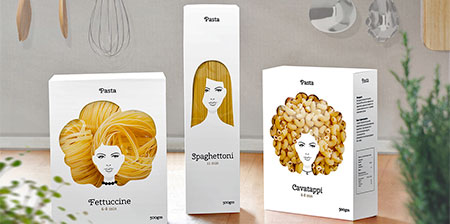 Pasta Hair Packaging