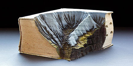 Snow Covered Book Mountains