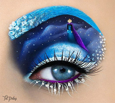 Frozen Eye Makeup Art