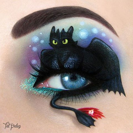 Toothless Eye Makeup Art