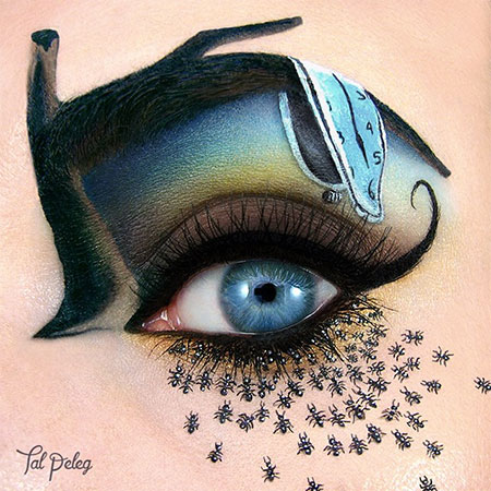 Salvador Dali Eye Makeup Art