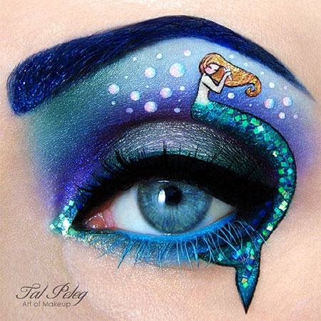 The Little Mermaid Eye Makeup Art
