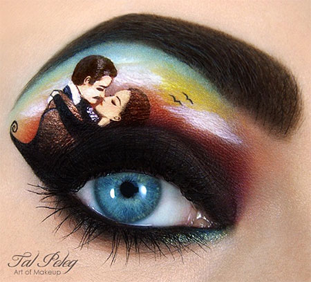 Gone with the Wind Eye Makeup Art