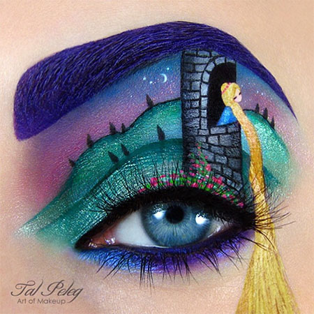 Rapunzel Eye Makeup Art