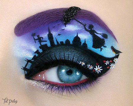 Mary Poppins Eye Makeup Art