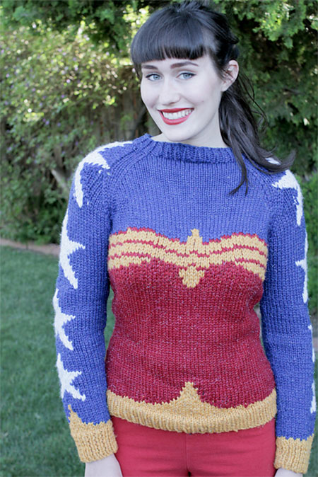 Knitted Wonder Woman Sweater