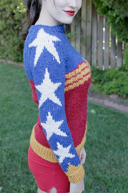 Natalie Bursztyn Wonder Woman Sweater