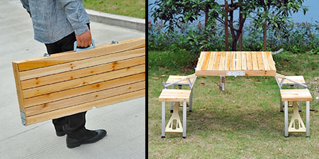 Briefcase Picnic Table
