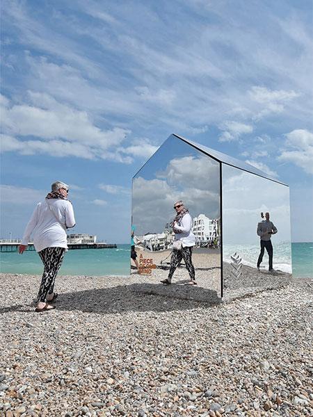 Reflective Beach Hut