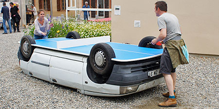 Ping Pong Table Car
