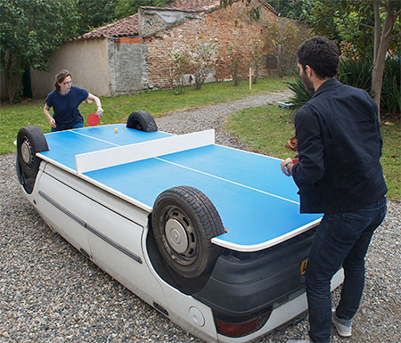 Benedetto Bufalino Ping Pong Table Car
