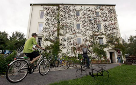 Bicycles on a Wall