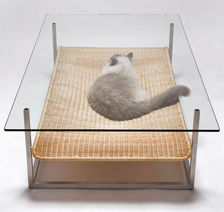 Koichi Futatsumata Cat Hammock Table