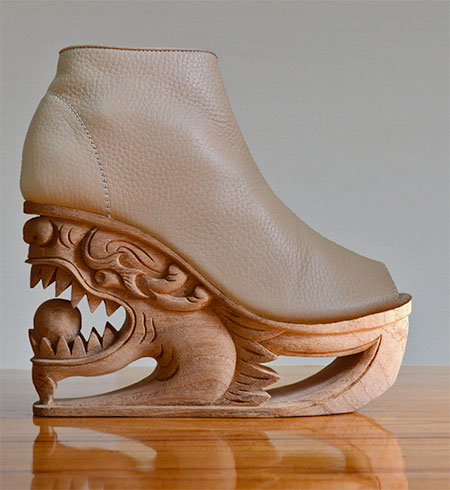 Hand Carved Shoes